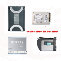Benz eCOM DoIP with 256G SSD Ecom software & MB Star SD Connect C4 Multiplexer Mercedes with V2019.3 Xentry Das Software HDD