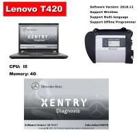 Benz C4 MB SD Connect C4 With Lenovo T420 4G I5 Laptop Installed 2018.12 Mercedes Benz Xentry DAS EPC Complete Software