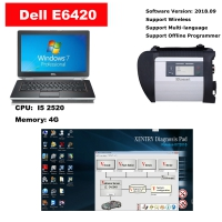 Full Set MB Star SD Connect C4 multiplexer with Dell E6420 laptop installed Mercedes das/xentry V2018.09 software