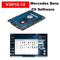 V2018.12 Mercedes Benz C6 Software installed in HDD MB Star C6 Software with Keygen Work For C6 Multiplexer Mercedes Benz Xentry diagnosis VCI