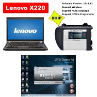 MB SD Connect C4 Doip Kit With Lenovo X220 Laptop Installed V2019.12 Mercedes Xentry DAS Openshell XDOS Software