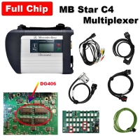 Super MB SD Connect C4 Full Chip Diagnosis C4 Multiplexer Mercedes Cars Trucks Diagnostic Tool With Best DG406 Chip And Ram