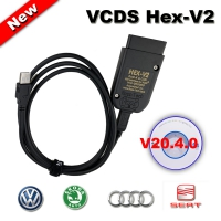 VCDS V2 Ross Tech VCDS Hex-V2 Enthusiast K + CAN USB Interface Unlimited Diagnose Interface With V20.4.1 VCDS V2 Download Software With Full license
