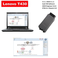 VAS 5054a Audi VW ODIS Interface With Lenovo T430 Laptop Installed V5.1.3 ODIS Download Software Ready To Use