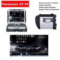 MB Star SD Connect C4 Multiplexer Mercedes With Panasonic CF-19 Laptop installed V2019.03 Benz Xentry Das Software