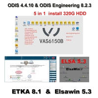 5 in 1 ODIS 4.4.10 Software Download VAG Audi VW ODIS 4.4.10 Crack Software With ODIS Engineering 8.2.3 , ETKA 8.1, Elsawin 5.3 Built in 320GB HDD
