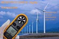 Benetech GM816 Digital Anemometer GM816 LCD Portable Wind Speed And Temperature Meter