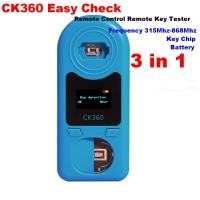 3 in 1 CK360 Easy Check Remote Control Remote Key Tester CK360 Easy Check Remote Control Frequency Detector for Frequency 315Mhz-868Mhz & Key Chip & Battery