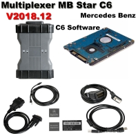 OEM MB Star C6 Mercedes Benz Xentry diagnosis VCI Benz C6 Multiplexer With Doip Fuction And V2018.12 Mercedes Xentry/Das Software No Need Activation