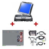 Mercedes star diagnosis Compact 4 with Panasonic CF-19 laptop installed V2018.3 Mercedes Benz Xentry das software ready to use