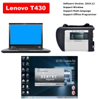 MB SD Connect C4 Multiplexer With Lenovo T430 4G I5 Laptop Installed V2019.12 MB Star SD C4/C5 Software Ready to Use