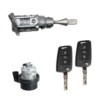 VW MQB Smart Key With Full Set Lock For All Years Full Set Lock with 3-Button Keys of VW MQB