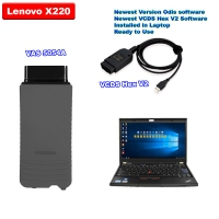 VCDS HEX-V2 V21.3 Unlimited Can USB + Super VAS 5054a Bluetoth with V7.1.1 ODIS Download Software Well Installed On Lenovo X220 Laptop Ready To Use