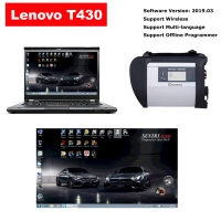 MB SD Connect C4 With Lenovo T430 4G I5 Laptop Installed V2019.03 Mercedes Benz Xentry DAS EPC Complete Software
