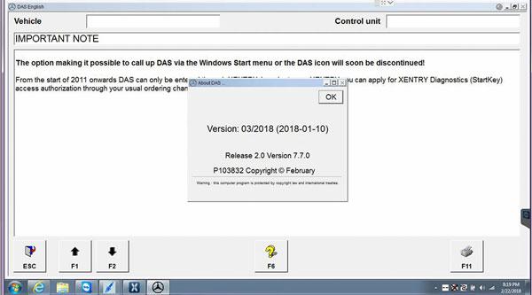 V2018 3 MB Star C4 Software 03/2018 Star Diagnosis Software Mercedes