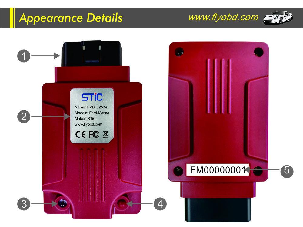FORD/MAZDA FVDI J2534 VCI FVDI J2534 Diagnostic Interface