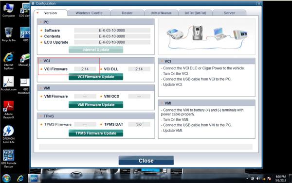 V2 14 GDS VCI Diagnostic Software built in 500G SATA Format